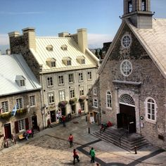 """This is where Samuel de Champlain founded his first """"abitation"""" in 1608. // Endroit où fut fondée Québec par Samuel de Champlain en 1608. Quebec Montreal, Old Quebec, Montreal Ville, Quebec City, Samuel De Champlain, Le Petit Champlain, Barbados, Jamaica, Canadian History"""