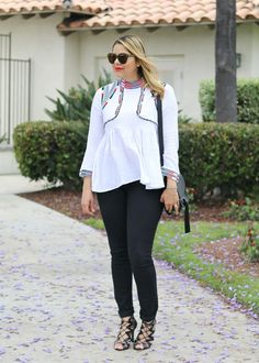 When the outfit revolves around a top! Top from Chicwish with a boho/ethnic vibe. Paired with black skinny jeans and black lace up sandal heels.