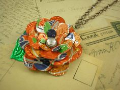 Recycled Soda Can Art TRENDY 30 inch Pendant Necklace  by jillmccp, $14.95