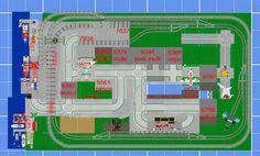 Progetto paese lego con porto e treno