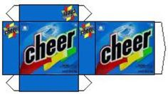 mini printable: Cheer laundry detergent