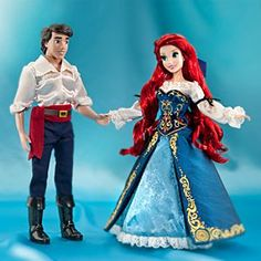 Disney Arielle, die Meerjungfrau und Prinz Eric - Puppen in limitierter Edition
