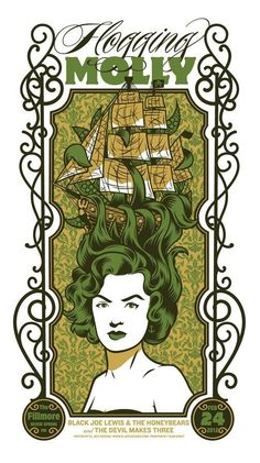 Top 10 gig posters of 2012....so far  Flogging Molly by eljefedesign