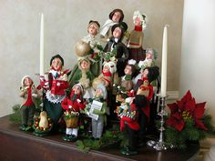 Traditional & Victorian Caroler figurines in an elegant display.