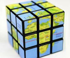 If regular Rubik's Cubes just aren't tough enough for you, then try the Rubik's Cube Earth. Lego Rubiks Cube, Tectonique Des Plaques, Brain Teaser Puzzles, Cube Design, Cool Patterns, Holiday Gifts, Toys, Projects, Cube Puzzle