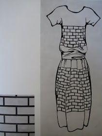Liubov Popova textile and dress design from the mid 20's.