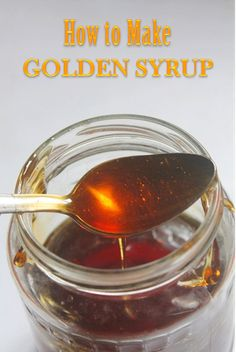 Source WIKI: Golden syrup or light treacle is a thick, amber-coloured form of inverted sugar syrup made in the process of refining sug. Homemade Pancake Syrup, Homemade Maple Syrup, Homemade Biscuits, How To Make Syrup, Honey Syrup, Brown Sugar Syrup, How To Make Pancakes, Sweet Sauce, Canning Recipes