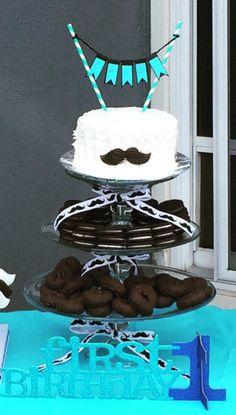 Mustache Bash 1st Birthday Party Smash Cake