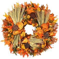 "I pinned this 18"" Preserved Autumn Sunset Wreath from the Floral Treasure event at Joss and Main!"