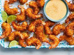 Honey-Pepper Coconut Shrimp Recipe  - Rich Cundiff   Food & Wine
