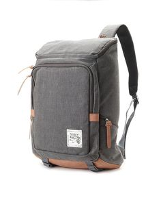 Cotton Canvas Cushioned Backpack (Grey)
