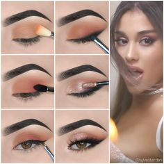 Eye Makeup Tips For Beginners Here we have compiled simple eye makeup tips pictures. They can help you become an eye makeup expert.Here we have compiled simple eye makeup tips pictures. They can help you become an eye makeup expert. Brown Skin Makeup, Makeup For Green Eyes, Blue Eye Makeup, Eyeshadow Makeup, Yellow Eyeshadow, Contour Makeup, Foil Eyeshadow, Makeup Eyebrows, Eyeshadow Palette
