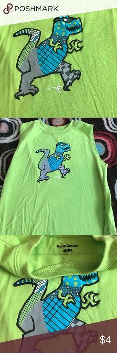 Green tank Green dinosaur toddler boy tank garanimals Shirts & Tops Tank Tops