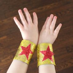 Superhero Cuffs from Toilet Paper Rolls - @Noelle Stransky Stransky Blanchard to go with your cape :)