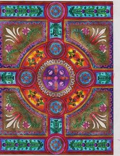 """Amazon.com - Dover Publications-Decorative Tile Designs Coloring Book - Coloring Books For Adults By Dianne Schuch Lindsey """"Dadita"""" on Apr 09, 2012"""
