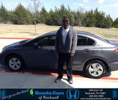 Congratulations to Solomon Mugati on your #Honda #Civic Sedan purchase from Jeremy Bilbo at Honda Cars of Rockwall! #NewCar
