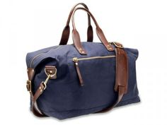 Bedford Navy Canvas Overnight Bag