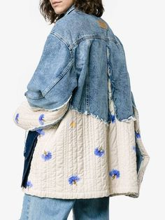 Check out Natasha Zinko with over 1 items in stock. Shop Natasha Zinko oversized patchwork quilted cotton denim jacket today with fast Australia delivery and free returns. Jean Jacket Outfits, Denim Outfit, Patchwork Denim, Patched Denim, Jean Rapiécé, Estilo Jeans, Diy Clothes, Clothes For Women, Mode Jeans