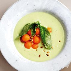 Chilled Avocado And Yogurt Soup With Melon