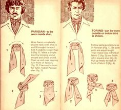 How to tie an ascot.