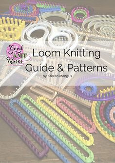 Find various Knitting loom patterns Loom Knitting Guide & Patterns Edition Loom Knitting Stitches, Knifty Knitter, Loom Knitting Projects, Yarn Projects, Loom Knitting For Beginners, Baby Knitting, Cross Stitches, Loom Bands, Loom Patterns