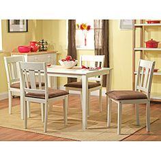 Overstock.com: Simple Living Stratton White 5-piece Dining Set
