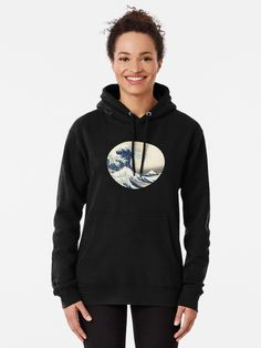 """""""The Great Wave Off Kanagawa"""" Pullover Hoodie by ind3finite 