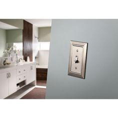 31 Affordable Ways To Upgrade The Old, Outdated Things Around Your House Switch Plate Covers, Switch Plates, Toggle Light Switch, Classic Architecture, Plates On Wall, White Style, Wall Colors, Wall Decor, Pure Products