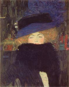 Art is not a luxury, it is a necessity. | Gustav Klimt 'Dame mit Hut und Federboa' 1909. ©...