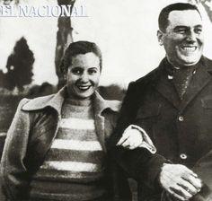 Juan Domingo Perón en visita a Venezuela al lado de Evita Perón. 1973 (ARCHIVO EL NACIONAL)