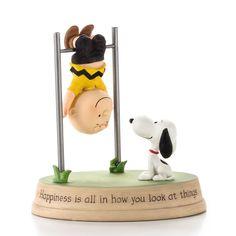 Hallmark Hallmark Snoopy and Charlie Brown Swinging Upside-Down Figurine