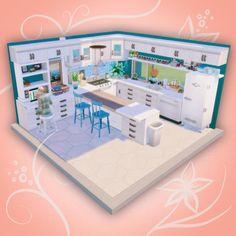 Sims 4 House Plans, Sims 4 Kitchen, Sims 4 House Design, Casas The Sims 4, Sims Building, Sims 4 Cc Packs, Sims Four, Sims Ideas, Sims 4 Build