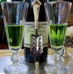 Yvonne Absinthe Set With Glasses And Spoons
