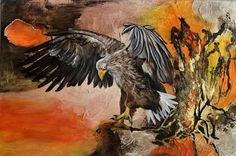 """Der Adler"" by Beatrice Gugliotta, Animals: Air, Nature: Air, Painting Bald Eagle, Art Work, Painting, Animals, Friends, Style, Eagle, Bows, Animal Pics"