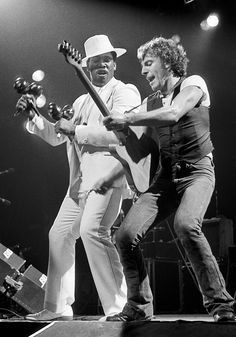 Bruce & Clarence 1976 Classic Rock And Roll, Rock N Roll, Elvis Presley, Bruce Springsteen The Boss, Face The Music, Delta Blues, E Street Band, Big Men, My Favorite Music