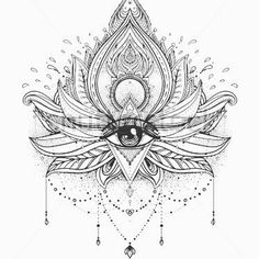 Evil eye protection| mandala  tattoo