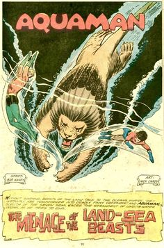 Cavalcade of Comic Book Images Comic Book Pages, Comic Book Covers, Comic Books, Book Images, Aquaman, Beast, Ocean, Comics, Drawing Cartoons