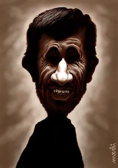 Cartoon: Mahmoud Ahmadinajad (medium) by Medi Belortaja tagged politicians,iran,president,ahmadinajad,mahmoud