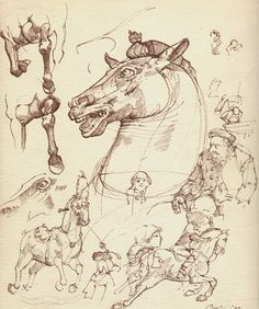 Leonardo Da Vinci - nothing more inspiring then his horse drawings First Anime Ever!