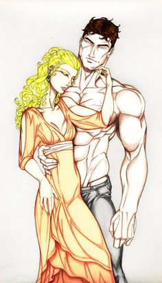 Butch and Marissa (Original art by Anyae of deviant art, color by blaubeerstrauch90 of deviant art)