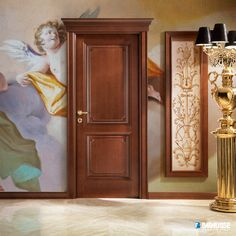 Tiepolo by Barausse. Barausse's unique collection includes modern and traditional interior doors in a wide variety of colors, textures, and materials, from lacquered wood to genuine leather. Traditional Interior Doors, Exterior Doors With Glass, Classic Doors, Door Design Interior, Inside Doors, Design Consultant, Cabinet Design, Glass Door, Colours