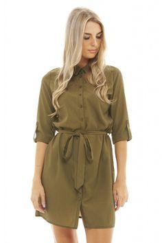 Tie Waist Shirt Dress - AX Paris