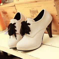 2014 new hot sale round toe lace-up platform high heel shoes for women thick heel pumps women high heel pumps boots