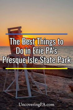 There are a ton of great things to do at Presque Isle State Park in Erie, PA. From swimming to historical sites, here are a few of my personal favorites. Caprock Canyon State Park, Myakka River State Park, Letchworth State Park, Custer State Park, Wisconsin State Parks, Georgia State Parks, Jedediah Smith State Park, Mckinney Falls State Park, Dinosaur Valley State Park