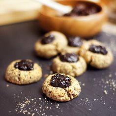 make almond milk cherry almond thumbprint cookies almond pulp cookies ...