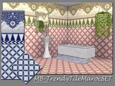 matomibotaki's MB-TrendyTileMarocSET..