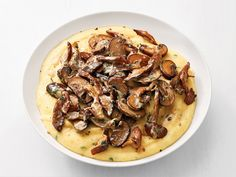 Polenta with Fontina and Mushrooms recipe from Food Network Kitchen via Food Network