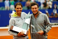 Rafael Nadal of Spain and Juan Monaco of Argentina pose for a photo after the singles final match between Rafael Nadal of Spain and Juan Monaco of Argentina as part of ATP Argentina Open at Buenos Aires Lawn Tennis Club on March 01, 2015 in Buenos Aires, Argentina. (Photo by Gabriel Rossi/LatinContent/Getty Images)