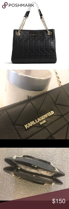 "Karl Lagerfeld Handbag ""Garance Shoulder Bag"". Patchwork stitching. Brand new, never been used. Mint condition (no scratches or wear). Karl Lagerfeld Bags Shoulder Bags"