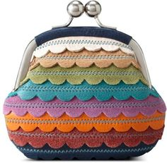 Fossil Ruby Frame Coin Purse in Multicolor (multi) - loving the colourful scallops